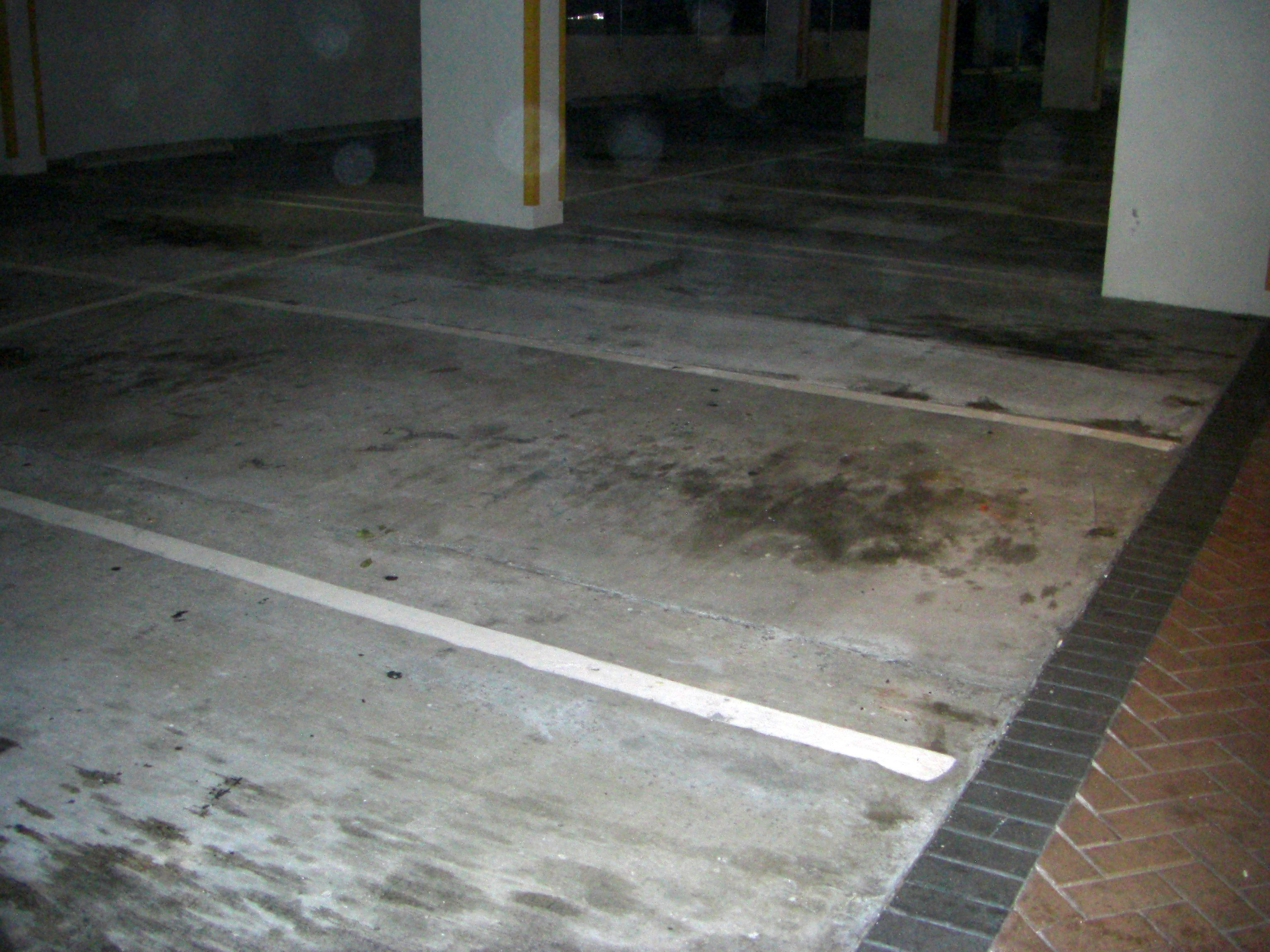 Coloring Cement In Parking Garage - National Sealing
