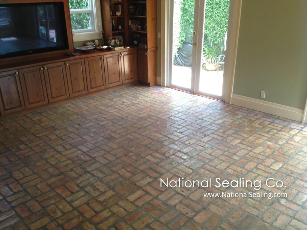 Indoor Brick Floor Sealing Gurus Floor