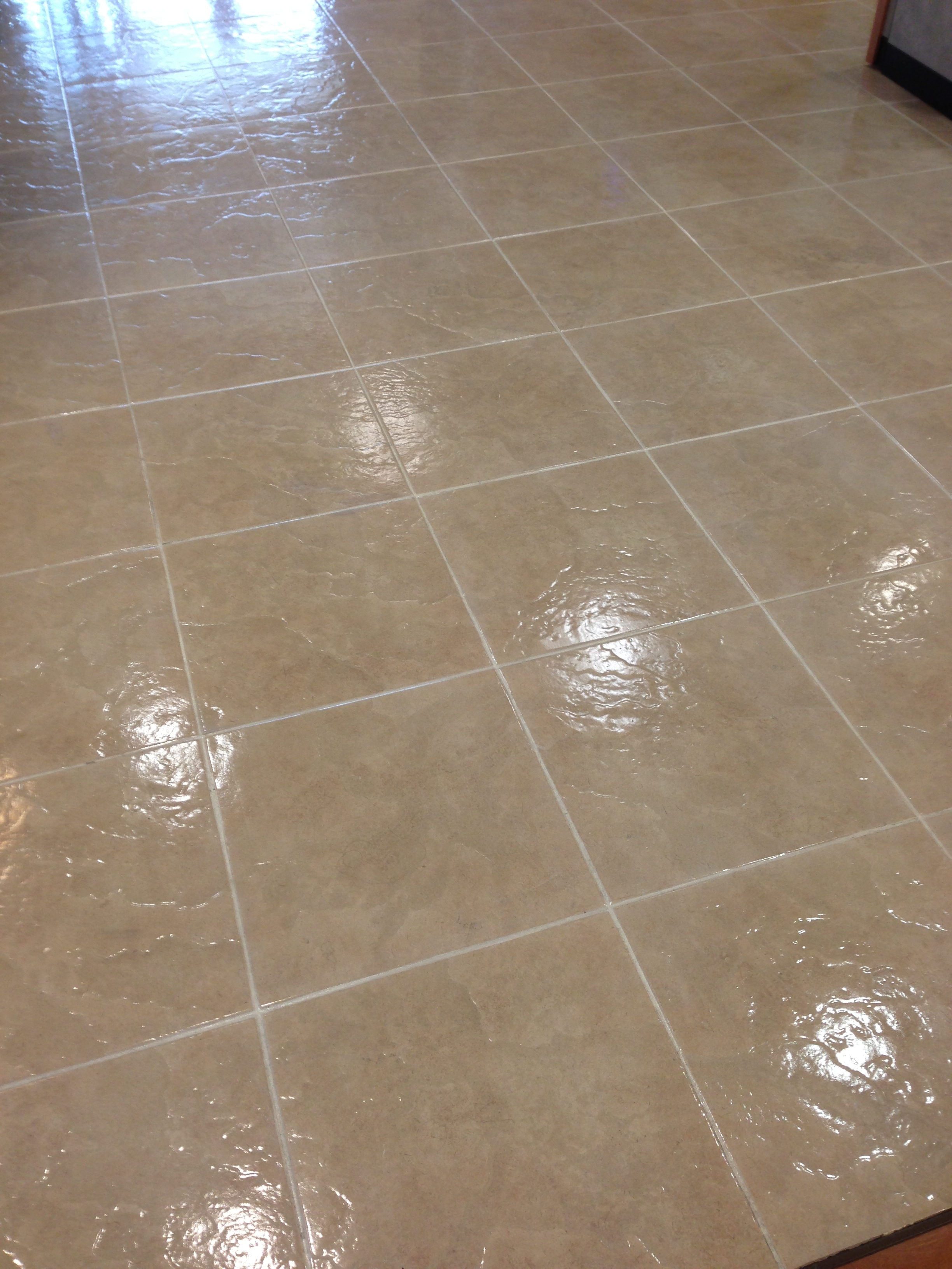 Sealing Grout Lines in Hotel Lobby | National Sealing