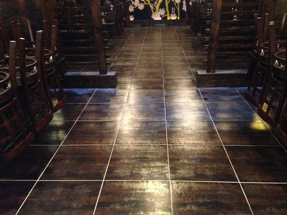 Non Slip Application On Restaurant Porcelain Tile Floors National