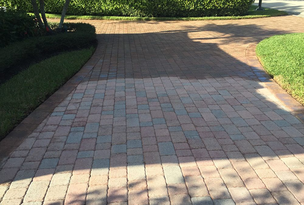 How to Re-Stain Faded Pavers