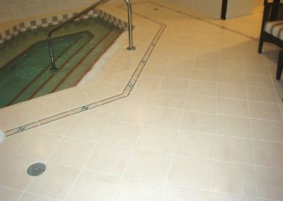 Hot Tub Tile with Anti Skid Coating