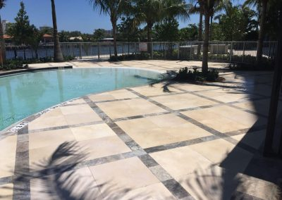 Pool Pavers Non Slip Coating Application