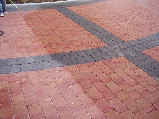Cleaning & COATING pavers at Boca Grande, Boca Raton, FL