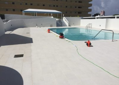 porcelain pool deck
