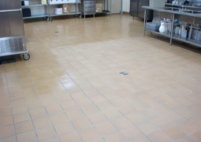 sealing tile commercial kitchen