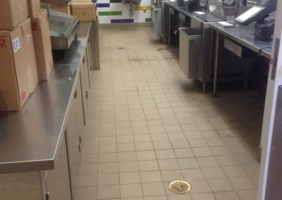sealing tile commercial kitchen before