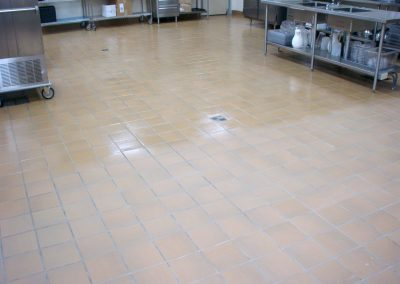 sealing tile & grout commercial kitchen