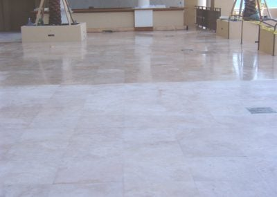 sealing travertine deck condo