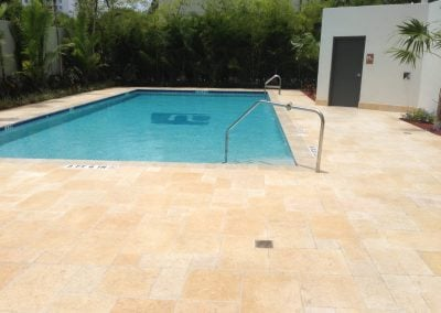 sealing travertine hotel pool deck