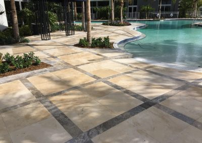 sealing travertine pool deck