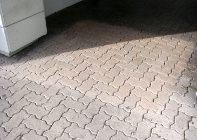 stripping pavers (dry)