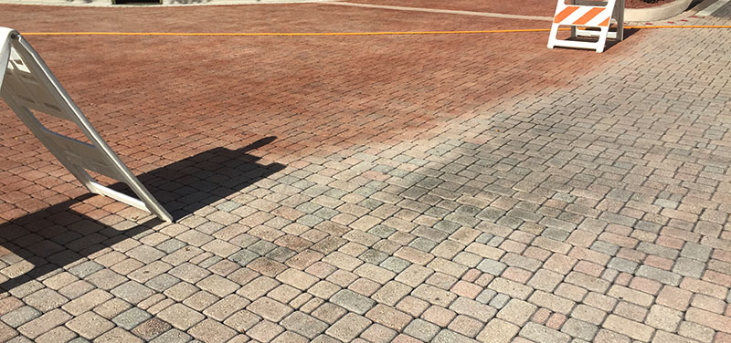 Sealing & Re-dyeing faded pavers with new Dyeing Process in Boca Raton