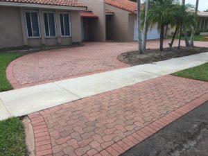Cement Pavers Must be Sealed to Prevent Fading - after treatment