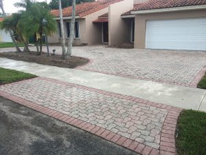Cement Pavers Must be Sealed to Prevent Fading - Before treatment