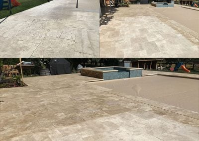 Travertine flooring can become VERY slippery and should also be protected from fading & staining - National Sealing Company