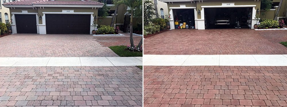 BRICK PAVERS MUST BE SEALED TO PREVENT FADING