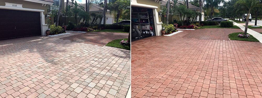 Brick pavers must be sealed to prevent fading by National Sealing CO