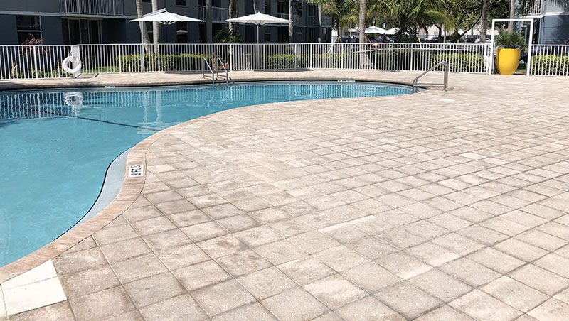 Sealing Pavers for Commercial Pool Deck Pavers by National Sealing Co.