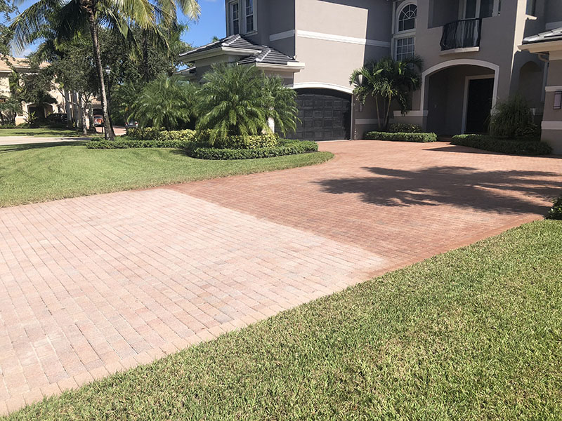 Staining pavers virtually amounts to painting pavers. The look is un-natural, the surface can be slippery, and if you've ever seen painted sidewalks - the paint/stain doesn't last.