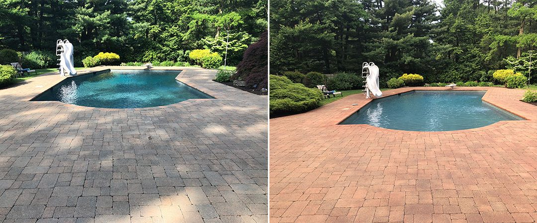 Rejuvenating Faded Pavers with new Dyeing Process