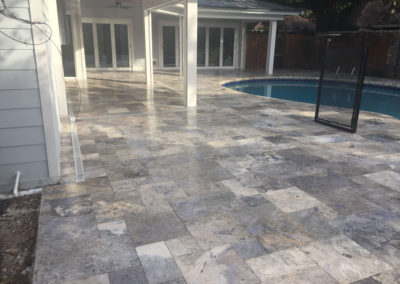 Darker Travertine Brings Out Beauty of Stone
