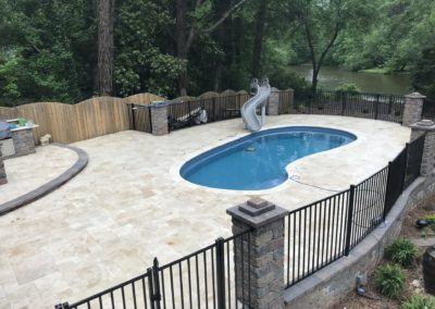Non Slip Travertine, Raleigh, NC
