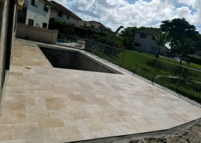 Non Slip Travertine, Deerfield Beach, FL