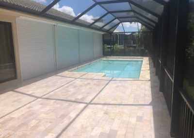 Non Slip Travertine, Marco Island, FL