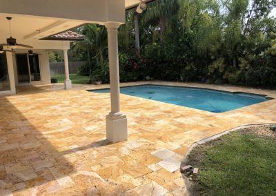 Non Slip Travertine, Palmetto Bay, FL