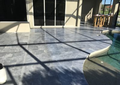 Non Slip Blue Stone Travertine, Bradenton, FL